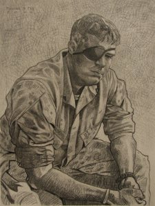 """Wounded Warrior"" Drawing by Michael Fay, USMC From beardedroman.com"