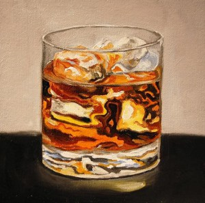 Painted whiskey illustration From moraswines.com